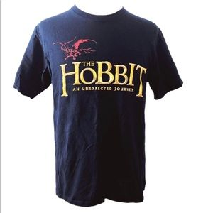 The Hobbit Mens M/L Navy Graphic Tee